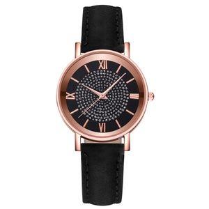 *CARLOTTA* Black x Gold Fashion Quartz Watch